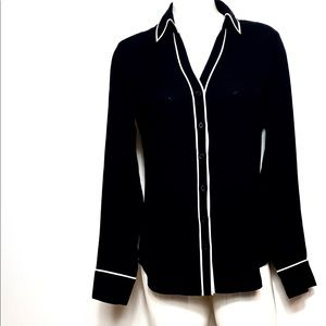 Express The Portofino Shirt Black button down Sm
